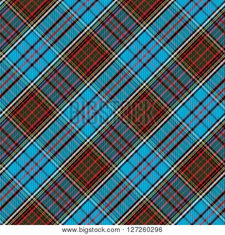 Tartan Clan Anderson diagonal seamless pattern vector illustration