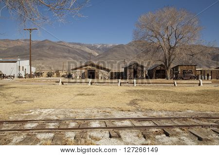 The old west ghost town of Laws in California