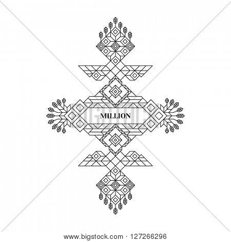 Line Art Design. Linear Element Geometric Style. Lineart Vector Illustration.