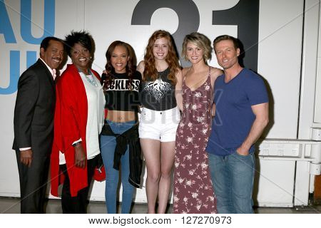 LOS ANGELES - APR 25:  Obba Babatunde, Anna Maria Horsford, Reign Edwards, Ashlyn Pearce, Linsey Godfrey, Jacob Young at the BnB Emmy Nominees Celebration at CBS on April 25, 2016 in Los Angeles, CA