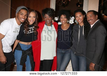LOS ANGELES - APR 25:  Rome Flynn, Reign Edwards, Anna Maria Horsford, Karla Mosley, Obba Babtunde, Felisha Cooper at the BnB Emmy Nominees Celebration at CBS on April 25, 2016 in Los Angeles, CA