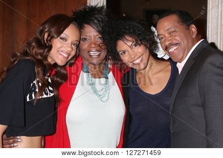 LOS ANGELES - APR 25:  Reign Edwards, Anna Maria Horsford, Karla Mosley, Obba Babtunde at the BmB Emmy Nominees Celebration at CBS on April 25, 2016 in Los Angeles, CA