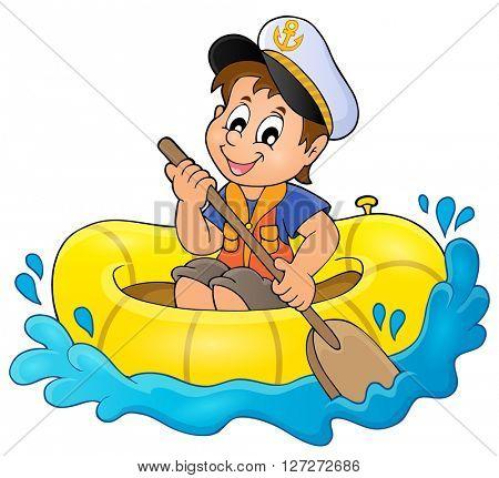 Little sailor theme image 1 - eps10 vector illustration.