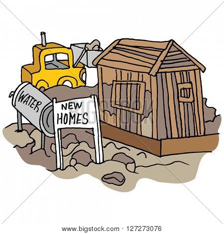 An image of a New home construction site.