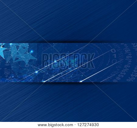 Abstract technology background for computer graphic website internet and business
