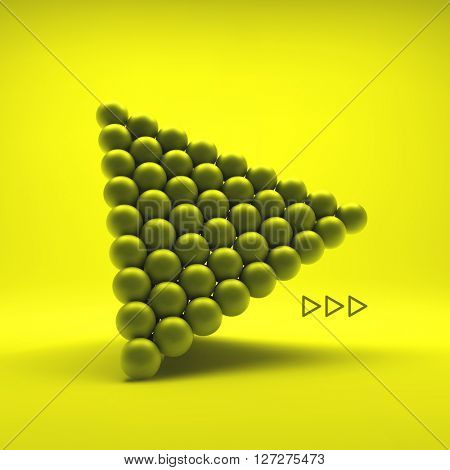 Pyramid of balls. 3d vector illustration. can be used for marketing, website, presentation.