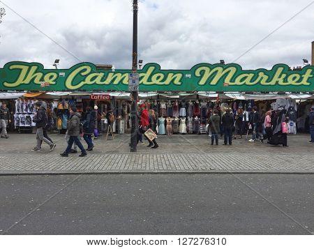 LONDON - APRIL 25: The Camden Market on April 25, 2016 in London, UK.