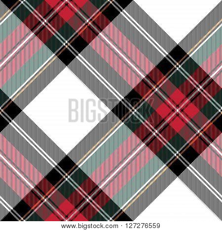 dress stewart tartan fabric texture seamless pattern diagonal. Vector illustration. EPS 10. No transparency. No gradients.