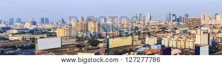 BANGKOK THAILAND - 16 APRIL 2016 - Scene of Bangkok high-rise buildings and expressway 1