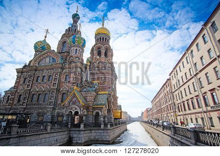 St. Petersburg, Russia - March, 13, 2016: Church of savior on Spilled Blood in St. Petersburg, Russia.