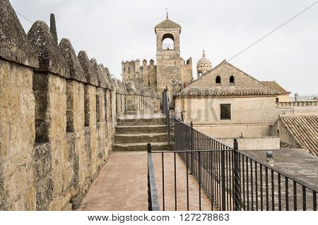 Alcazar de los Reyes Cristianos in Cordoba Spain