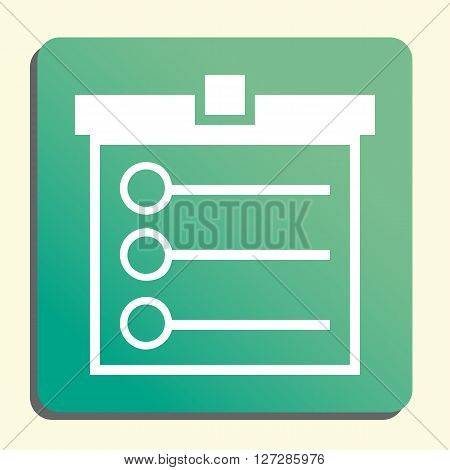 Task List Icon In Vector Format. Premium Quality Task List. Web Graphic Task List Sign On Green Ligh