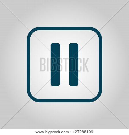 Music Pause Icon In Vector Format. Premium Quality Music Pause. Web Graphic Music Pause Sign On Grey