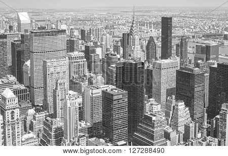 Black And White Picture Of New York Skyline.