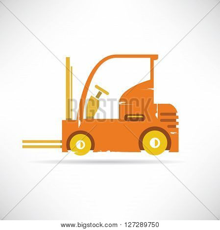 forklift icon grunge style in white background