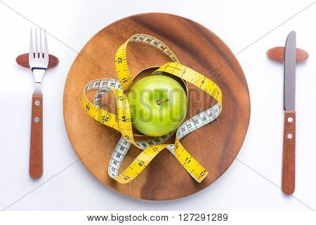 Fitness concept with healthy dieting.Concept of diet.Low-calorie fruit diet.