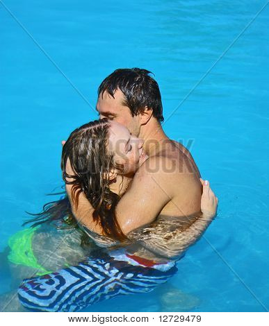Lovers Couple Pool