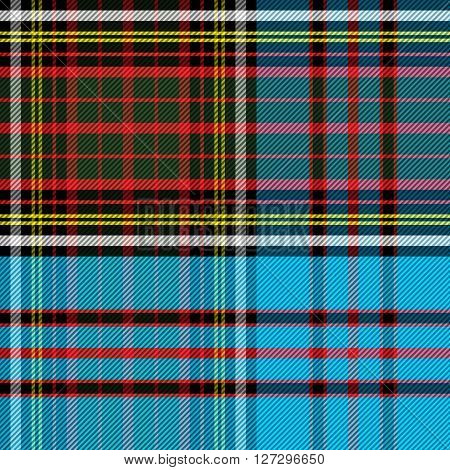 Tartan Clan Anderson vector illustration blue red yellow