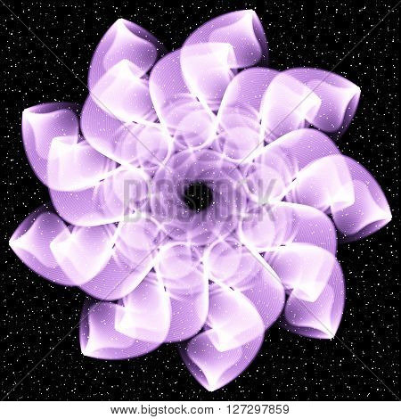 Vector Abstract Pattern circle on starts 8
