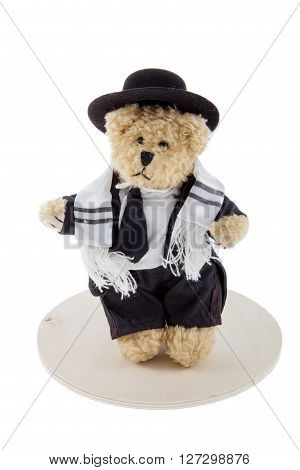A Bar Mitzvah Bear against a white background