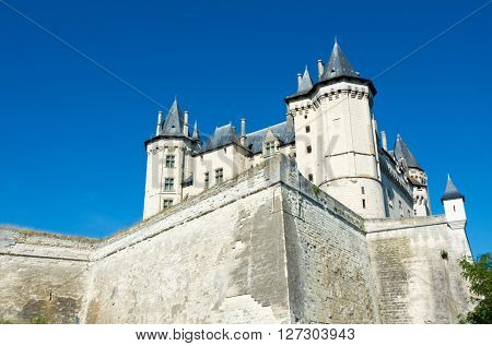 Saumur castle, Loire Valley, France. Saumur Castle was built in the tenth century and rebuilt in the late twelfth century