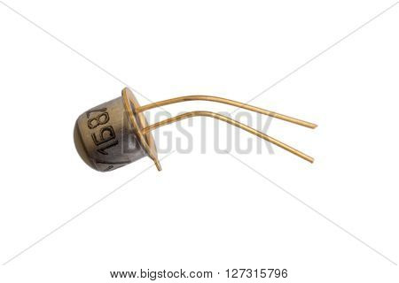 A light emitting diode on white background