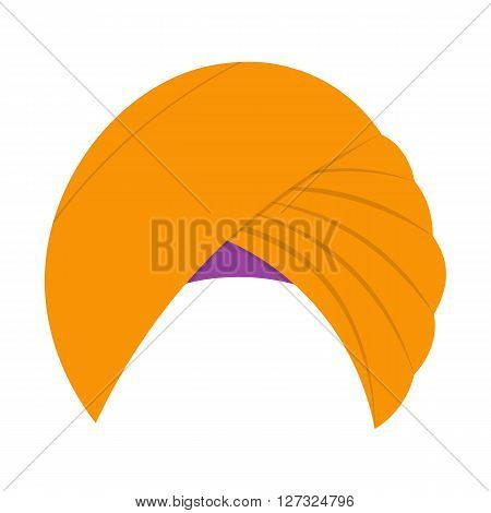 Turban headdress vector illustration isolated on a white background