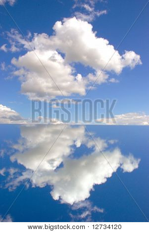 Sky reflection