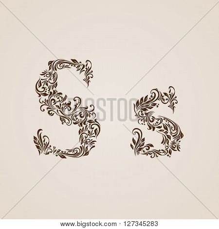 Handsomely decorated letter s in upper and lower case.