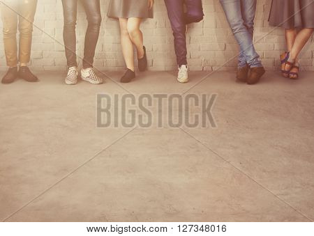 Teens Friends Hipster Fashion Trends Friendship Concept