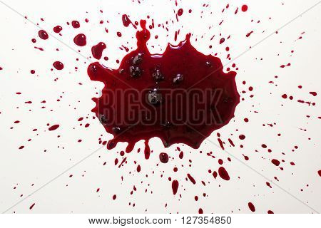 Vibrant Blood Splat On White Bath Porcelain
