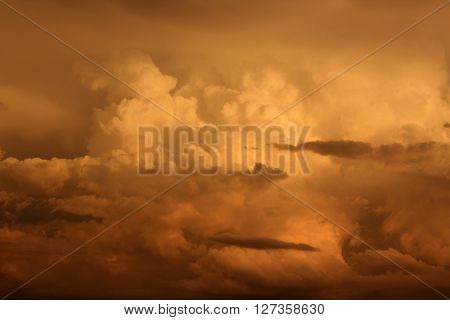 storm sky with clouds, apocalypse