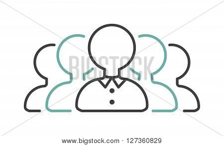 Business partner goup negotiations icon symbol success team agreement vector. Negotiations icon teamwork and partner cooperation negotiations icon. Company management negotiations icon.