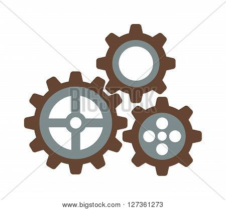 Cogwheel machinery and development gear icon mechanical technology wheel machine vector. Machinery gear icon and mechanical technology gear icon. Gear icon engineering element equipment.