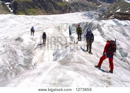 Alpinist Gruppe