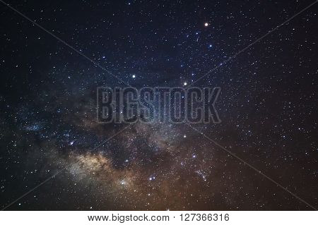 Close-up of Milky WayLong exposure photograph with grain