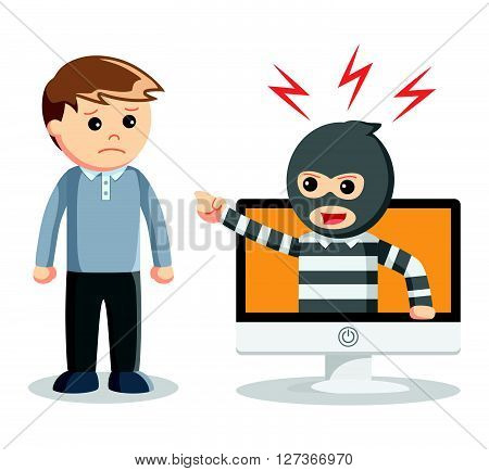 Hacker abused illustration  .eps 10 vector illustration flat design