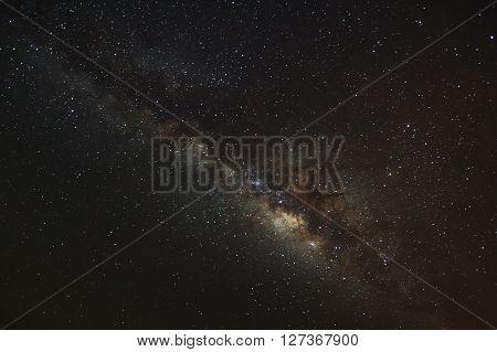 Milky Way Galaxy,long Exposure Photograph, With Grain