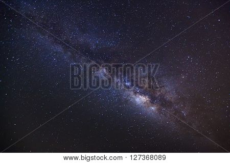 Milky Way,long Exposure Photograph, With Grain..