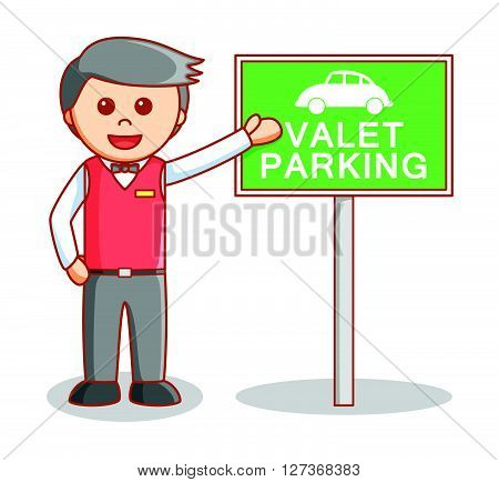 Valet parking illustration .eps10 editable vector illustration design