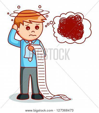 Depressed businessman Illustration .eps10 editable vector illustration design