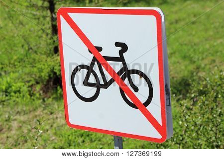 mark the movement of bicycles is prohibited