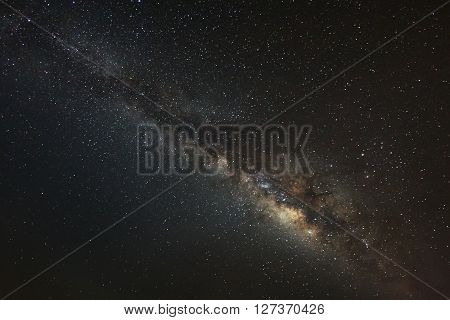 Beautiful milky way galaxy on a night sky