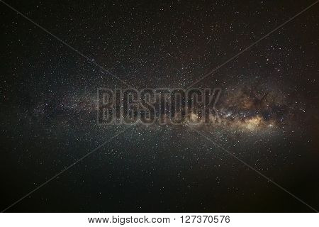 Milky Way Galaxy, Long Exposure Photograph,with Grain