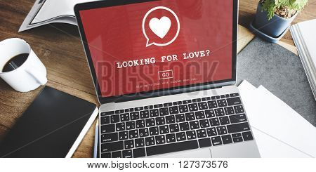Looking for Love Heart Homepage Concept