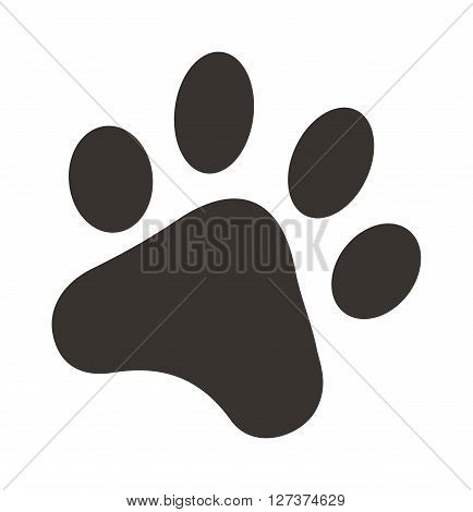 Black footprints of dogs foot silhouette vector illustration. Dog foot silhouette and animal pet dog foot. Dog foot animal pet and print dog foot. Silhouette graphic puppy cartoon trace dog foot.