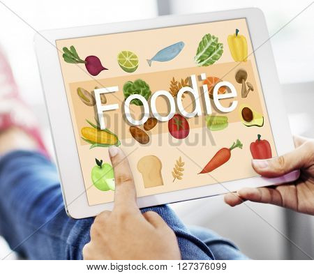 Foodie Cuisine Culinary Culture Fresh Garnish Concept poster