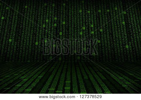 The Green Alphanumeric Code Background.