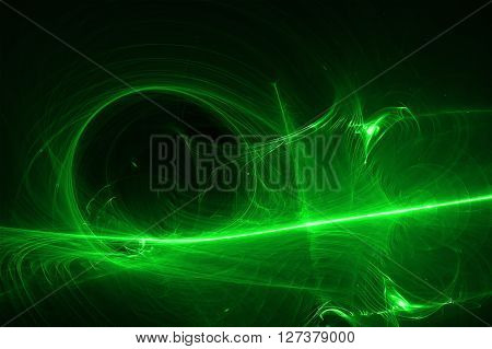 green glow energy wave. lighting effect abstract background. This image is suitable for any purpose such as science fantastic sci-fi horror supernatural and etc. poster