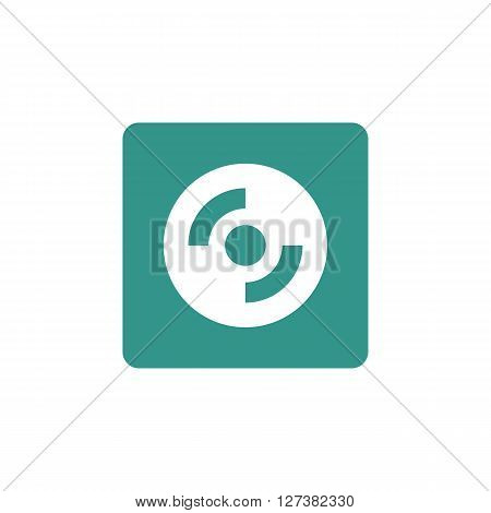 Cd-rom Icon In Vector Format. Premium Quality Cd-rom Symbol. Web Graphic Cd-rom Sign On Green Backgr